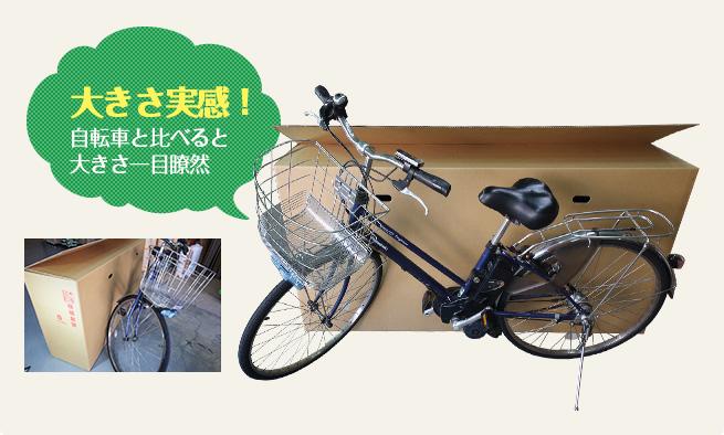 大きさ実感!自転車と比べると大きさ一目瞭然